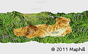 Physical Panoramic Map of Mong Hpayak, satellite outside