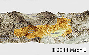 Physical Panoramic Map of Mong Hpayak, semi-desaturated