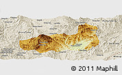 Physical Panoramic Map of Mong Hpayak, shaded relief outside