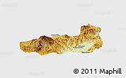 Physical Panoramic Map of Mong Hpayak, single color outside