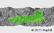 Political Panoramic Map of Mong Hpayak, desaturated