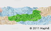 Political Panoramic Map of Mong Hpayak, lighten
