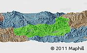 Political Panoramic Map of Mong Hpayak, semi-desaturated