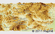 Physical Panoramic Map of Mong Hsat