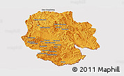 Political Panoramic Map of Mong Hsat, cropped outside
