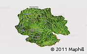 Satellite Panoramic Map of Mong Hsat, cropped outside