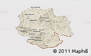 Shaded Relief Panoramic Map of Mong Hsat, cropped outside