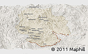 Shaded Relief Panoramic Map of Mong Hsat, lighten