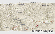 Shaded Relief Panoramic Map of Mong Hsat