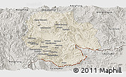 Shaded Relief Panoramic Map of Mong Hsat, semi-desaturated
