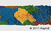 Political Panoramic Map of Mong Hsu, darken