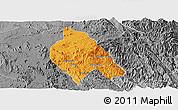 Political Panoramic Map of Mong Hsu, desaturated