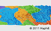 Political Panoramic Map of Mong Hsu