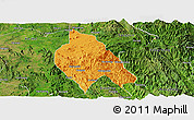 Political Panoramic Map of Mong Hsu, satellite outside