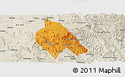 Political Panoramic Map of Mong Hsu, shaded relief outside