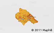 Political Panoramic Map of Mong Hsu, single color outside