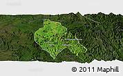 Satellite Panoramic Map of Mong Hsu, darken