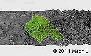 Satellite Panoramic Map of Mong Hsu, desaturated