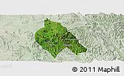 Satellite Panoramic Map of Mong Hsu, lighten
