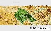 Satellite Panoramic Map of Mong Hsu, physical outside
