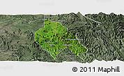 Satellite Panoramic Map of Mong Hsu, semi-desaturated