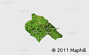 Satellite Panoramic Map of Mong Hsu, single color outside