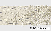 Shaded Relief Panoramic Map of Mong Hsu