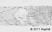 Silver Style Panoramic Map of Mong Hsu