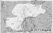 Gray Panoramic Map of Mong Kung
