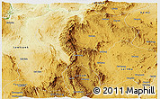 Physical Panoramic Map of Mong Kung