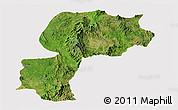 Satellite Panoramic Map of Mong Kung, cropped outside