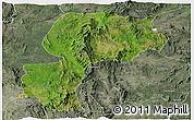 Satellite Panoramic Map of Mong Kung, semi-desaturated