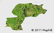 Satellite Panoramic Map of Mong Kung, single color outside