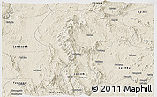 Shaded Relief Panoramic Map of Mong Kung