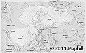 Silver Style Panoramic Map of Mong Kung