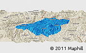 Political Panoramic Map of Mong Mao, shaded relief outside