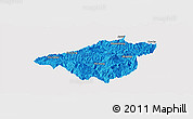 Political Panoramic Map of Mong Mao, single color outside