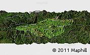 Satellite Panoramic Map of Mong Mao, darken