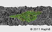 Satellite Panoramic Map of Mong Mao, desaturated