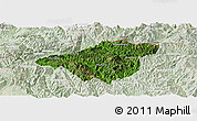 Satellite Panoramic Map of Mong Mao, lighten