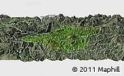 Satellite Panoramic Map of Mong Mao, semi-desaturated