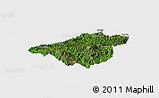 Satellite Panoramic Map of Mong Mao, single color outside