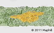 Savanna Style Panoramic Map of Mong Mao