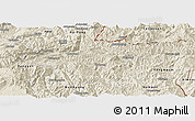 Shaded Relief Panoramic Map of Mong Mao
