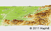 Physical Panoramic Map of Mong Mit