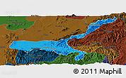 Political Panoramic Map of Mong Mit, darken