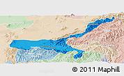 Political Panoramic Map of Mong Mit, lighten