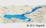 Political Panoramic Map of Mong Mit, shaded relief outside