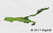 Satellite Panoramic Map of Mong Mit, cropped outside