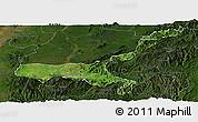 Satellite Panoramic Map of Mong Mit, darken